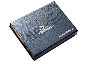 12 James Bond 007 Magnetic Collar Stays / Stiffeners with Magnets Presented in a Leather Case