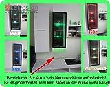 1er Set 3x LED Glaskantenbeleuchtung Glasbodenbeleuchtung Glasbeleuchtung Batteriehalter deckenru.de LEDs warm-weiß neu