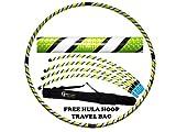 Pro Hula Hoop Reifen Erwachsene (Schwarz/Weiß/Gelb UV) Zerlegbarer 4 piece Travel Hula Hoop für Training u. Tanz HoopDance - Größe 100cm, Gewicht 650g