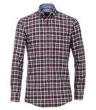Casa Moda - Comfort Fit - Twill Herren Hemd kariert mit Button-Down-Kragen in rot (472796700A), Größe:XL, Farbe:Rot (400)