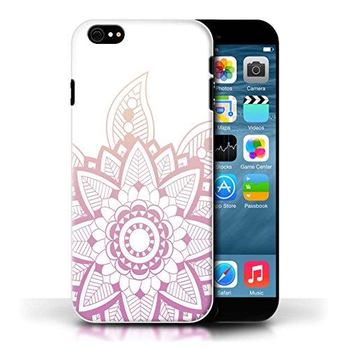 Stuff4 Hülle / Case für Apple iPhone 6S / Rosa Henna Blume Muster / Ombre Muster Kollektion Rosa Henna Blume