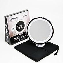 Led Makeup Mirror - Adjustable Magnification Lighted