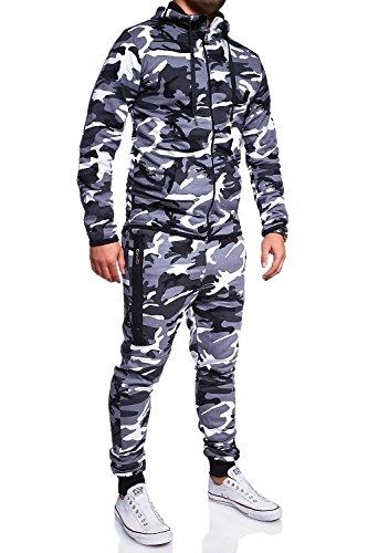 MT Styles Trainingsanzug mit Zipper Sportanzug R-7039 [Grau, M]