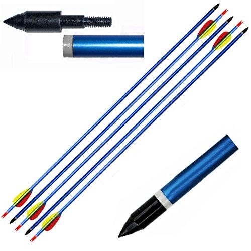 """5 Pfeil Pfeile für Bogenschießen Bogen in blau 30/65 Pfund Aluminium 30 """"Sport"""