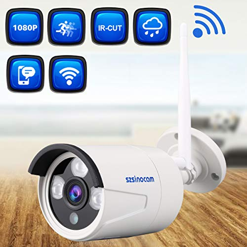 Szsinocam 1080P Wasserdichte Wireless 2.0 Megapixel WLAN-Sicherheit WiFi IP-Kamera EU