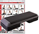 Steppbrett PROFI XXL Fitness Set Aerobic Stepbench 110 x 42 cm