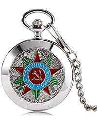 Reloj de bolsillo de lujo, plata de la Federación de Rusia Soviética martillo de mechero
