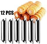 Lembeauty 12Edelstahl Schraube Croissant Form DIY Magnetventil Anode Spirale Kuchen Horn Brot Backform cannolo Röhren