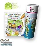 Ravensburger tiptoi Buch ab 3 Jahre | Mein Wörter-Bilderbuch: Unterwegs + Kinder Wimmel-Weltkarte