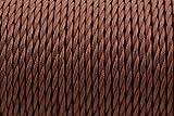 2 Core - 0,75 mm Marrón antiguo trenzado trenzado tejido de seda lámpara de alambre flexible cable Cord luz (PRECIO X METRO)