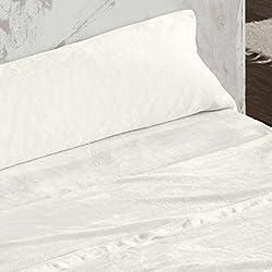 Burrito Blanco - Juego de sábanas Coralina 953 beige para cama de 150x190/200 cm