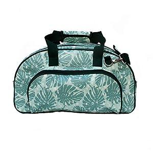 IKURI Weekender - Wasserdichte Tasche Für Frauen Sporttasche Schwimmtasche Umhängetasche für Fitness, Sauna und Wellness Kliniktasche Reisetasche aus Plane Retrolook - Design Monstera