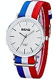 montre luxe homme - mode homme - montre fashion homme - bleu blanc rouge