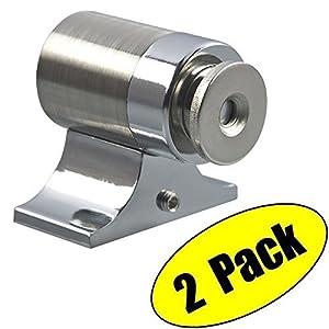 Uhppote acciaio inossidabile potente magnetico fermaporta fermaporta cattura nichel satinato (confezione da 2)
