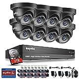 SANNCE Sistema de seguridad Kit de 8 CCTV Cámaras metal de vigilancia (Onvif H.264 CCTV DVR P2P 8CH...