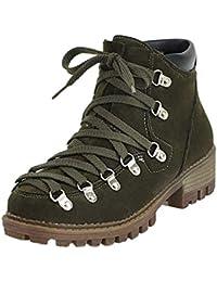 4218ee9ef ZHRUI Plataforma de Zapatos de tacón bajo para Mujeres Ocio Color sólido  Frote Corto Tubo Martin Boots (Color…