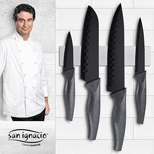 San Ignacio Copper Plus Set de 3 sartenes + 4 Cuchillos de...