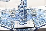 Sovie HOME Linclass® Airlaid Tischdecke Seaside | Mitteldecke 80x80 cm stoffähnlich | edle Tischdeko Meer Muschel Koralle | blau - 3