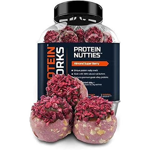 Sfere Pralinate Proteiche di The Protein Works - Spuntino Proteico alle Noci con Burro di Noci al 100% Naturale - Mandorle & Super Berry - 15 per