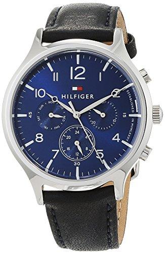 Tommy Hilfiger Unisex Multi Zifferblatt Quarz Uhr mit Leder Armband 1781874 -