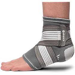 strencs Fußbandage (L/XL) für Damen und Herren, die fixierbare atmungsaktive Bandage wirkt stabilisierend und präventiv beim Sport