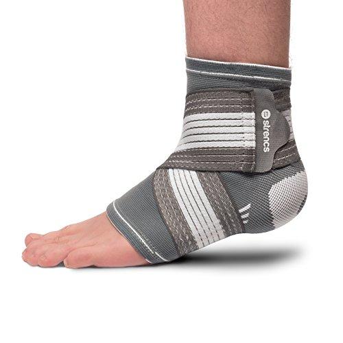 strencs Fußbandage (S/M) für Damen und Herren, die fixierbare atmungsaktive Bandage wirkt stabilisierend und präventiv beim Sport …