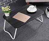 WY-ZDDNZ Tabelle, Stehfaltung Zuhause/Im Freien Notebooktisch, Büro/Einfacher Studientisch, Brettmaterial, 4 Farben, Tragendes 20KG (Farbe : Black)