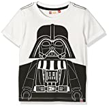 Lego Wear Jungen Shirt Star Wars Darth Vader Tony 850, Gr. 140, Weiß (Off White 102)