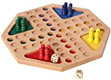 Bartl 100962 Ludo achteckig-Gesellschaftsspiel für 4 Spieler