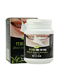 Kashyk Bamboo Charcoal Black Tooth Powder   Whitening Toothpaste   Natural Smile   Dental Cleaner   Remove Plaque   to Smoke Stains Tea Stains   Mouth Clean   Daily Use (Black)