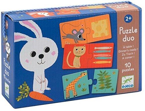 Djeco DJ08166 Puzzle con Animali da Abbinare alla Cena, Multicolore (Versione in...