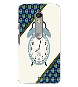 PrintDhaba Alarm Watch D-4268 Back Case Cover for MOTOROLA MOTO X PLAY (Multi-Coloured)