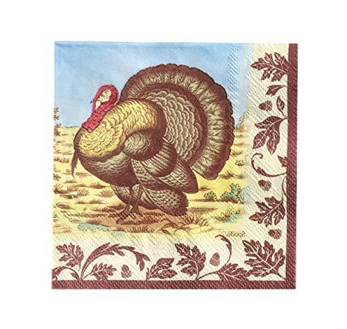 Thanksgiving Spode Woodland Cocktail-Servietten, 20 Stück -