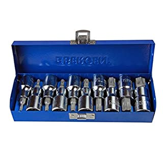 Bergen 10 piece 1/2 Torx Trx-Star BIT SOCKET SET 1/2