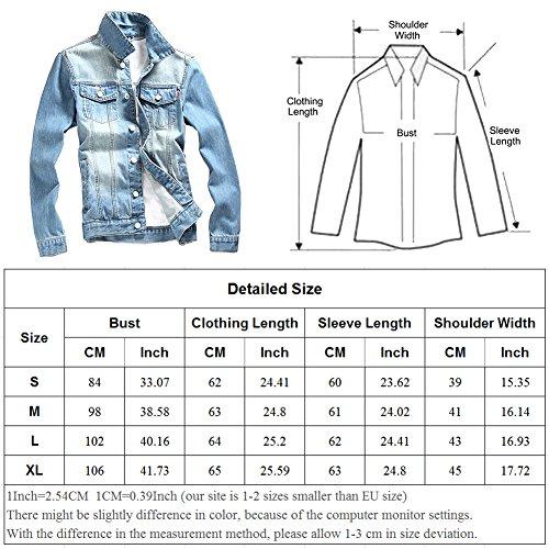 Veste en Jean Homme Vintage Denim Jacket Mince Blouson Lumière