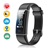 Fitness Tracker Orologio Fitness Braccialetto Schermo a Colori Cardiofrequenzimetro Polso Contapassi Watch Bracciale Impermeabile IP68 Activity Tracker per iPhone Huawei Android iOS Smartphone