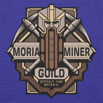 TEXLAB - Moria Miner Guild - Herren T-Shirt Marine
