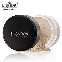 Generic Honey : ISILANDON Loose Powder Whitening Concealer Makeup Cover Bright Skin Face Powder Long Lasting Oil Control Beauty