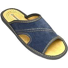 BeComfy - Zapatillas de estar por casa de Piel para hombre