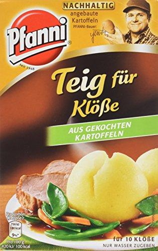 Pfanni Teig für Feine Klöße aus gekochten Kartoffeln für 10 Klöße, 9er Pack (9 x 275 g)