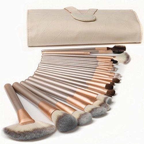 Millya 24Pcs Makeup Brushes Professional Wool Cosmetic Makeup Brush Set Kit Brushes & tools Make Up Case