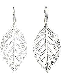 2 PCS cuelga los pendientes de gota de gancho 925 floral de plata 3D  Filigrana hueco 8878d24c843