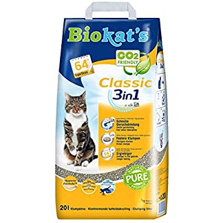 biokat's classic 3in1 cat litter without fragrance clumping litter for cats with 3 different grain sizes – 1 paper bag (1 x 20 l) Biokat's Classic 3in1 Cat Litter without fragrance clumping litter for cats with 3 different grain sizes – 1 paper bag (1 x 20 L) 51Il38Hxt1L