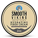 Hair Styling Fiber for Men - Best Pliable Molding Product with Medium Hold & Minimal Shine - For Modern Hairstyles - Thickens, Texturizes & Increases Fullness in Thinning Hair - 2 OZ - Smooth Viking
