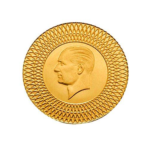 Türkische Goldmünze 1 Gramm Gold 1g Goldmünze Ohne Öse in Kapsel mit Geschenkbeutel