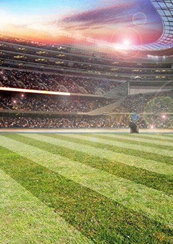 Fußball Stadion Hintergrund für Foto Studio Gras Stock Rasen Schöne, Sport Foto Booth Hintergründen Digitale Fotografie Prop 5× (Foto Prop Fußball)