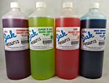 4 PACK OF 1 LITRE SIZED SLUSH SYRUPS SNOW CONE SYRUPS COCKTAIL SYRUPS