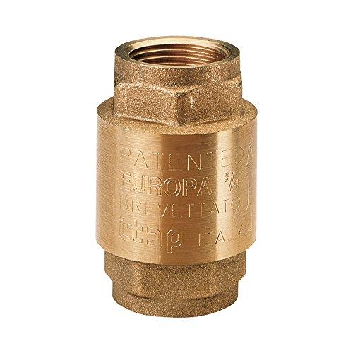 Ventil Messing Rückschlagventil EUROPA mit Innengewinde 3/4 Zoll Made in Italy, gold