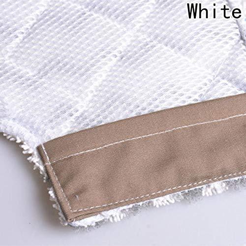 dfhdrtj Exquisite Ersatz-Pads für Dampfreiniger, für Shark Lift-Away Pro Dampfreiniger und Genius Dampfreiniger, im Vergleich zu Haifisch-Teil für Heimdekoration, 2 Stück White S3973