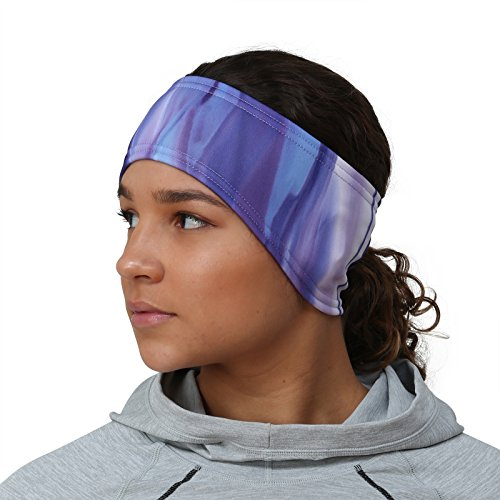 TrailHeads gemustertes Damen Pferdeschwanz Stirnband - 9 Farben (lila Wellen) -